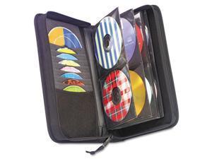 Cd/Dvd Wallet, Holds 72 Disks, Black