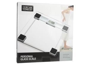 ThinkTank Technology Personal Scale w/ LCD Digital Display, Tap-On Technology & Tempered Glass Platform