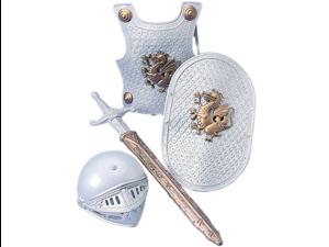 Child Knight Costume Armor Shield Helmet & Sword Set