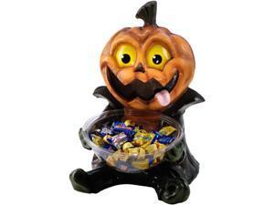 "Large 20"" Jack-O-Lantern Pumpkin Halloween Candy Holder Decoration Statue"