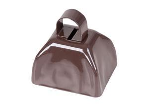 "Super Cool 3"" Brown Metallic Costume Accessory Cow Bell"