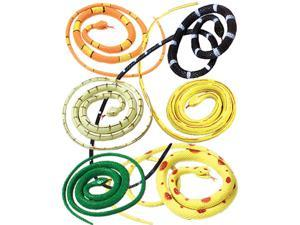 """New Set of 12 Rubber 36"""" Coiled Rubber Prop Toy Snakes"""