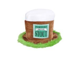 Rhode Island Novelty Rhode Island Novelty St Patricks Day Porters Irish Stout Beer Top Hat Cap