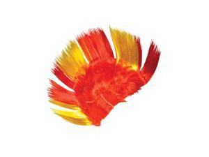 Adult Red and Gold School and Team Spirit Mohawk Wig