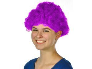Mens Womens Child Costume Accessory Dress Up Purple Afro Team Spirit Clown Wigs