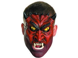 Adult Devil Blood Demon Chinless Half Vinyl Costume Mask