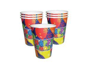 Lot 250 Blue Red Happy Birthday Party Paper Beer Beverage Drinking 9oz Cup