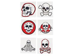 Set 12 Pirate Halloween Costume Trick or Treat Tattoos