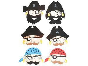Set of 12 New Halloween Costume Party Foam Pirate Masks