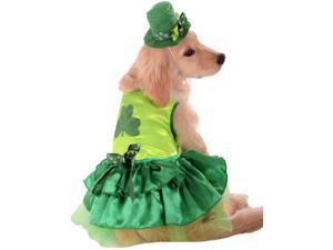 Irish St Patricks Paddys Day Lucky Girl Dog Pet Costumes Size Large 22""