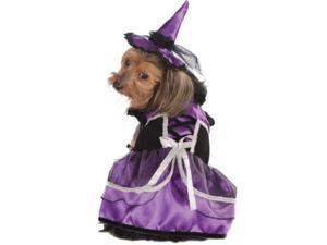 Purple Black Witch Warlock Dog Pet Costumes Size XL X-Large 28""