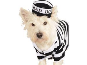 Prisoner Convict Escaped Bad Dog Pet Costumes Size Medium 15""