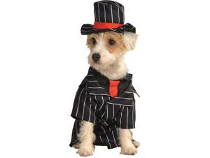 1920s Italian Mob Gangster Hitman Dog Pet Costumes Size Small 11""