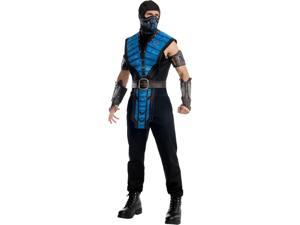 Adult Men's Mortal Kombat Villain Sub-Zero Sub Zero Ninja Costume Large 44
