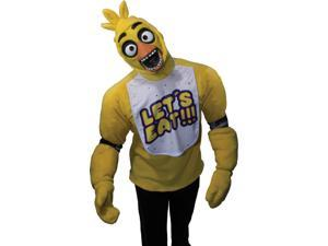Adult Five Nights At Freddy's Plush Chica Costume Top Survival Small 34-36