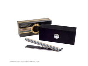 "Nano Hair straightener - 1"" Silver Art collection-Stripes"