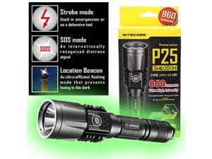 Nitecore Tactical Precise P25 Smilodon Rechargeable LED Flashlight Grey - 860 Lumens