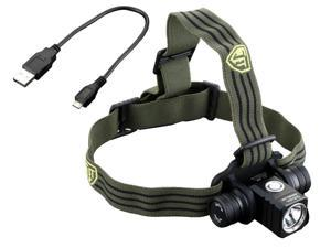 JETBeam HR25 Rechargeable CREE XM-L2 LED Headlamp (800 Lumens), Runs on 1x 18650 Battery (Included)