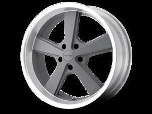 KMC Nova Wheel Gray Machined Lip 18X9 +35mm 5x114.3 (5x4.5) 2005-2014 Ford Mustang