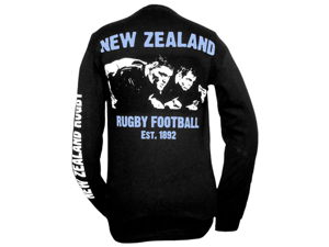 Long-Sleeve New Zealand Rugby T-Shirt - L