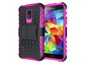 Hyperion Explorer 2-piece Premium Hybrid Protective Case / Cover for Samsung Galaxy S5 MINI (SM-G800) Cell Phone - PINK