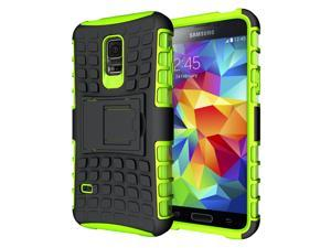 Hyperion Explorer 2-piece Premium Hybrid Protective Case / Cover for Samsung Galaxy S5 MINI (SM-G800) Cell Phone - GREEN