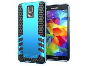 Hyperion Titan 2-piece Premium Hybrid Protective Case with Belt Clip for Samsung Galaxy S5 / SV Cell Phone - BLUE/CLIP