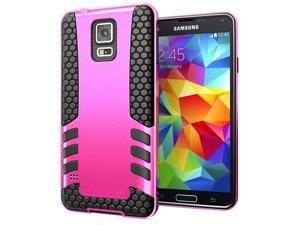 Hyperion Titan 2-piece Premium Hybrid Protective Case with Belt Clip for Samsung Galaxy S5 / SV Cell Phone - PINK/CLIP