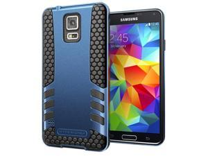 Hyperion Titan 2-piece Premium Hybrid Protective Case for Samsung Galaxy S5 / SV Cell Phone - TITANIUM