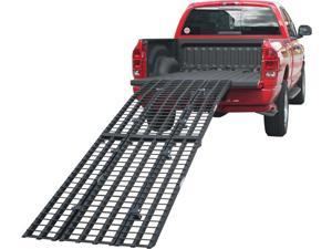 """116"""" Black Widow Extra Long Arched Aluminum Folding Motorcycle Loading Ramps"""
