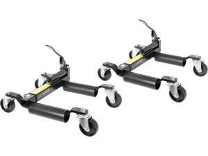 2-Pack Hydraulic Vehicle Positioning Jack & Wheel Dolly