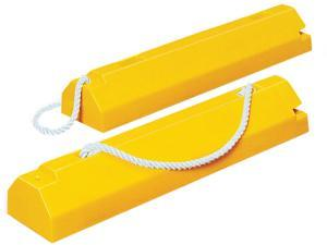 CHECKERS INDUSTRIAL PROD INC AC4614-LR Airplane Chock, 4 In H, Urethane, Yellow