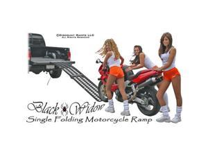 "94.5"" Black Widow Single Folding Arched Motorcycle Ramp"
