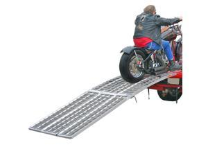 Black Widow 10ft. Arched 3-Ramp Aluminum Motorcycle Loading System with ramps and straps MF-12038