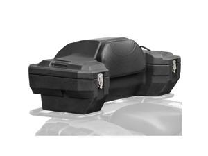 Lockable Hard Sided Rear ATV Storage Box with a Comfortable Padded Backrest