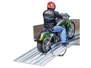 "95"" Arched Full Size Aluminum Non-Folding Motorcycle Ramp System"