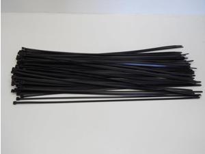 """(100) 28"""" Black Plastic Cable Ties Zip Ties Fasteners"""