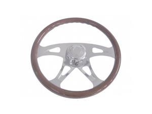 "International Semi Truck 18"" Chrome Boss Four Spoke Steering Wheel"