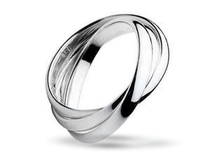 Bling Jewelry Unisex 925 Silver Rolling Triple Russian Wedding Band Ring
