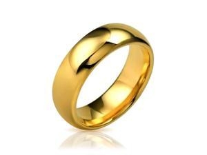 Bling Jewelry Gold Plated High Polish Comfort Fit Tungsten Wedding Band