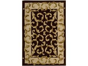 Nourison Hand-tufted Versaille Palace Chocolate Rug (5'3 x 8'3)