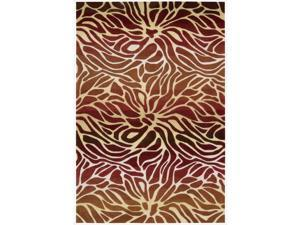 Hand-tufted Contour Abstract Lilies Flame Rug (3'6 x 5'6)