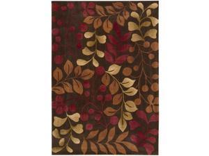 Nourison Hand-tufted Contours Chocolate Rug (7'3 x 9'3)