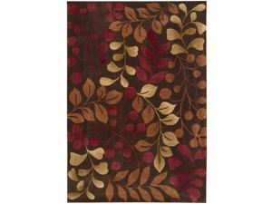 Nourison Hand-tufted Contours Chocolate Rug (5' x 7'6)