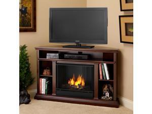 Real Flame Chruchill Corner Dark Espresso Gel Fireplace