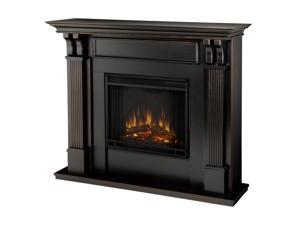 Real Flame Ashley Indoor Electric Fireplace in Black Wash - 7100E-BW