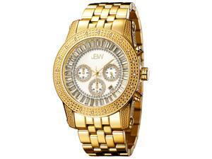 JBW Men's 'Krypton' Gold Chronograph Diamond Watch