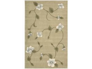Nourison Hand-tufted Julian Light Gold Wool Rug (5'3 x 8'3)