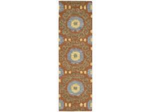 Nourison Hand-tufted Siam Rust Rug  (2'3 x 7'6)