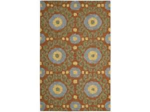 Nourison Hand-tufted Siam Rust Rug (5'6 x 7'5)